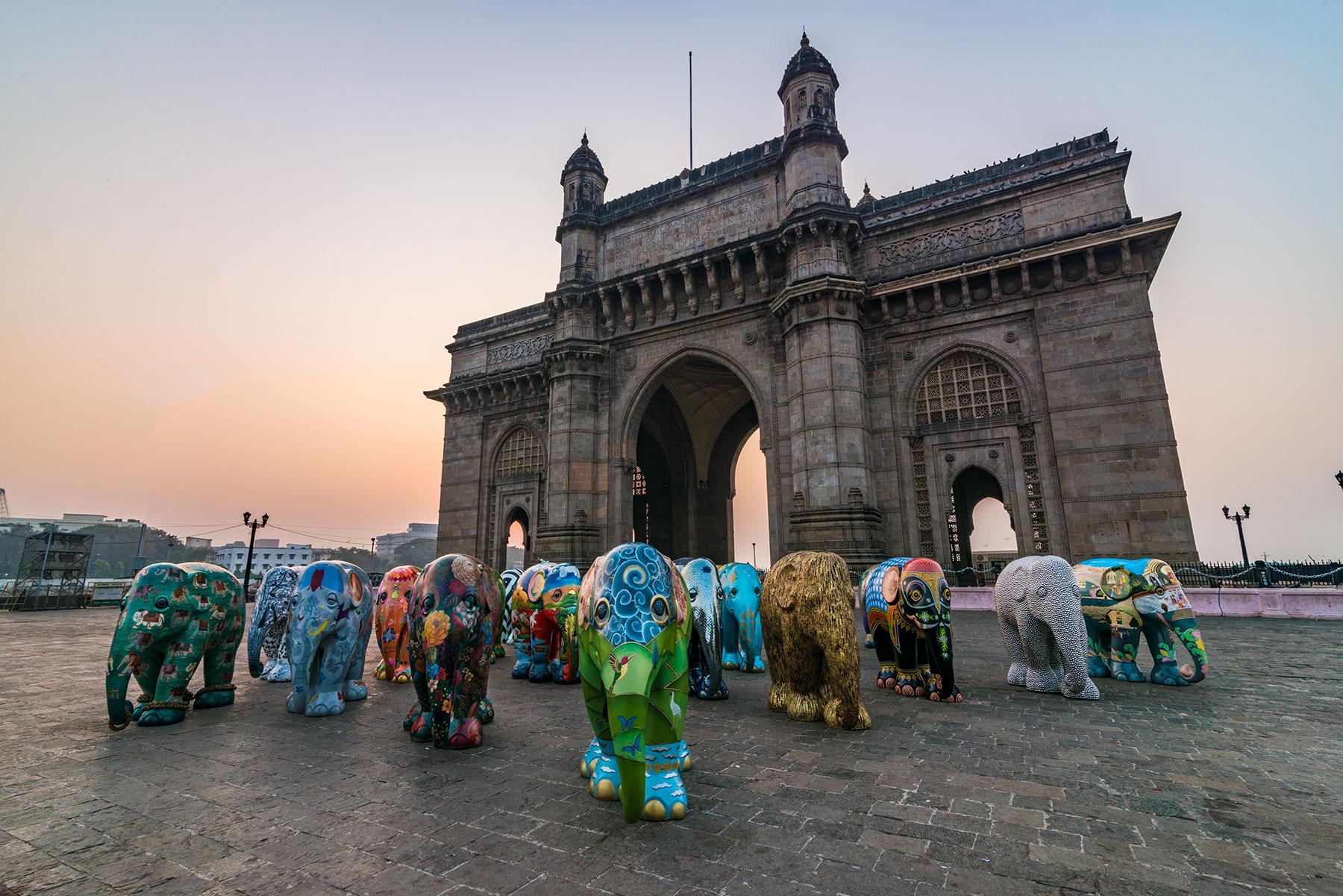 Elephant at Gateway Of India