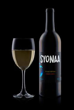 Chenin with wine glass