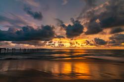 Sunset at Allapuzha/Alleppey beach