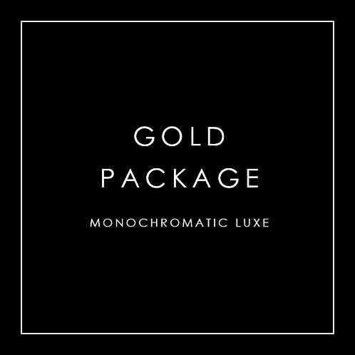 Gold Package - Monochromatic Luxe
