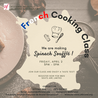 French Cooking Class 2 April