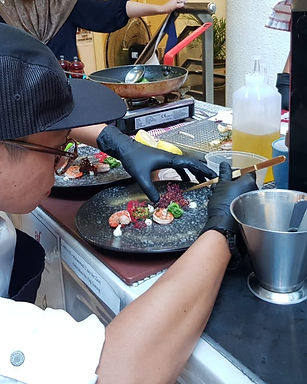 Contestant during French Cooking Gourmet