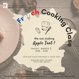 French Cooking Class 5 March 2021
