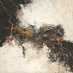 Diane lewis Brown and Teal Oil and Wax #