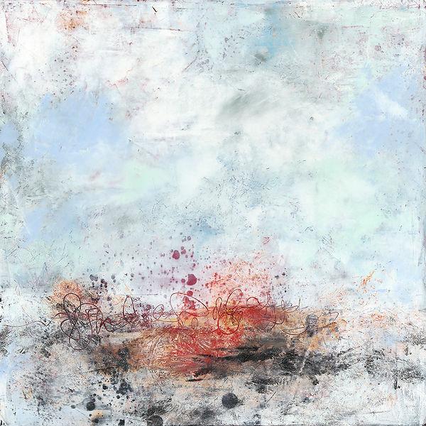 Diane Lewis abstractWhite  size 18 X 18