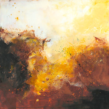 Diane Lewis Oil and Wax Yellow and Brown