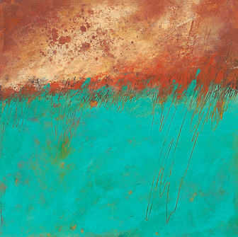 Diane Oil and Wax Copper and Teal  12 X