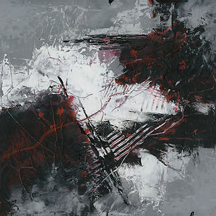 Diane lewis Black and Red and Gray Paint