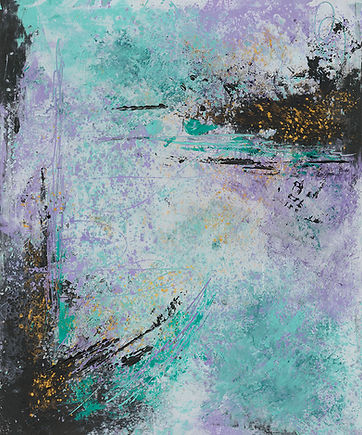 Diane Oil and Wax Purple and teal  #1 10