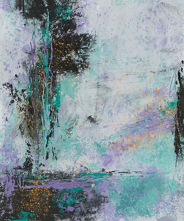 Diane Oil and Wax Purple and teal #2  10