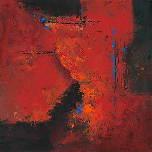 Diane Lewis Red and Blue and Orange oil