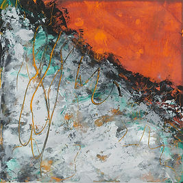 Diane Lewis Indian Yellow and Teal  #1 s