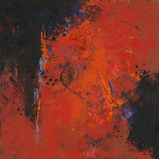 Diane Lewis abstract Red  #1 size 18 X 1