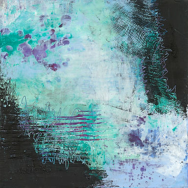 Diane Lewis Oil and Wax purple teal  12
