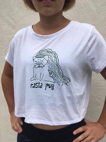 Rasta Pug Crop Top