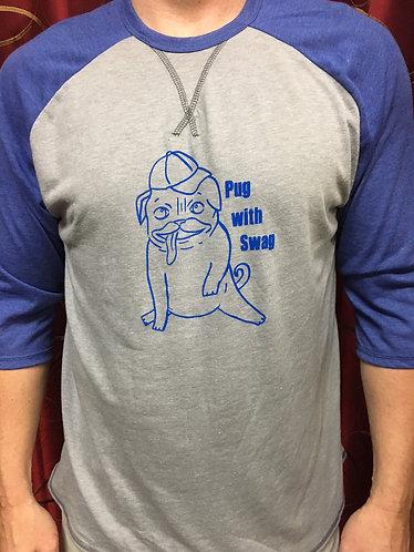 Men's Pug W/ Swag Baseball T