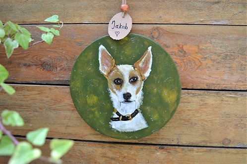 Pet memorial remembrance painting, Handpainted Custom-made animal portrait on ca