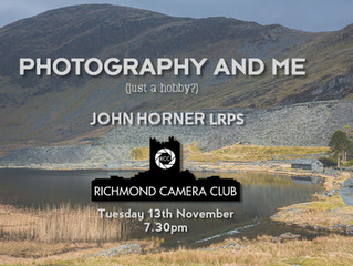 13th Nov - talk by John Horner LRPS