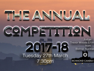 27th March - The Annual Competition Results with judge Trevor Woods EFIAP, APAGB
