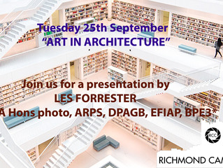 """25th September - Presentation by Les Forrester on """"Art in Architecture"""""""