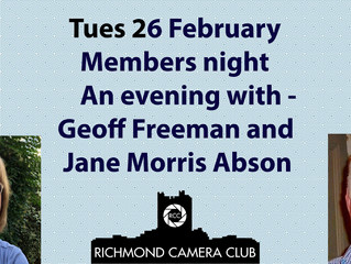 Members' night with Jane and Geoff