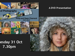 """31st October - """"A Life of Photography"""" with Phil, Gwen and Chris Charnock"""