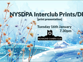 16th January - NYSDPA Interclub Prints/DPIs Competition 2017