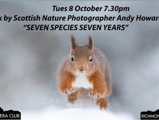 """8 October - """"Seven Species Seven Years"""""""