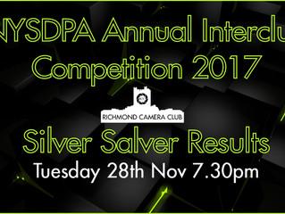 28th November - NYSDPA Annual Interclub Competition 2017 - Silver Salver Results