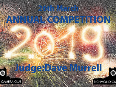 26th March - Annual Competition