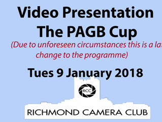 9 January - The PAGB Cup (video presentation)
