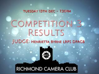 13 Dec - Competition Night No 3