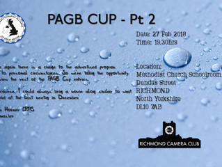 """27th Feb """"PAGB Cup - Pt 2"""" or a movie"""