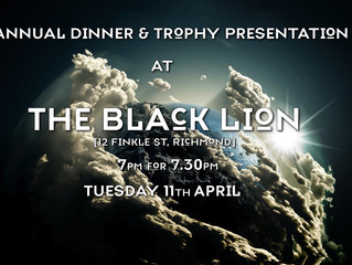 11th April - Annual Dinner and Trophy Presentation
