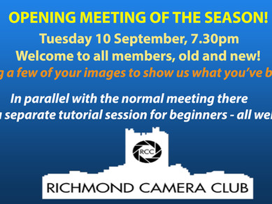 First meeting of the season - all welcome!