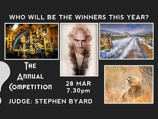 28th March - Annual Competition Results with Stephen Byard