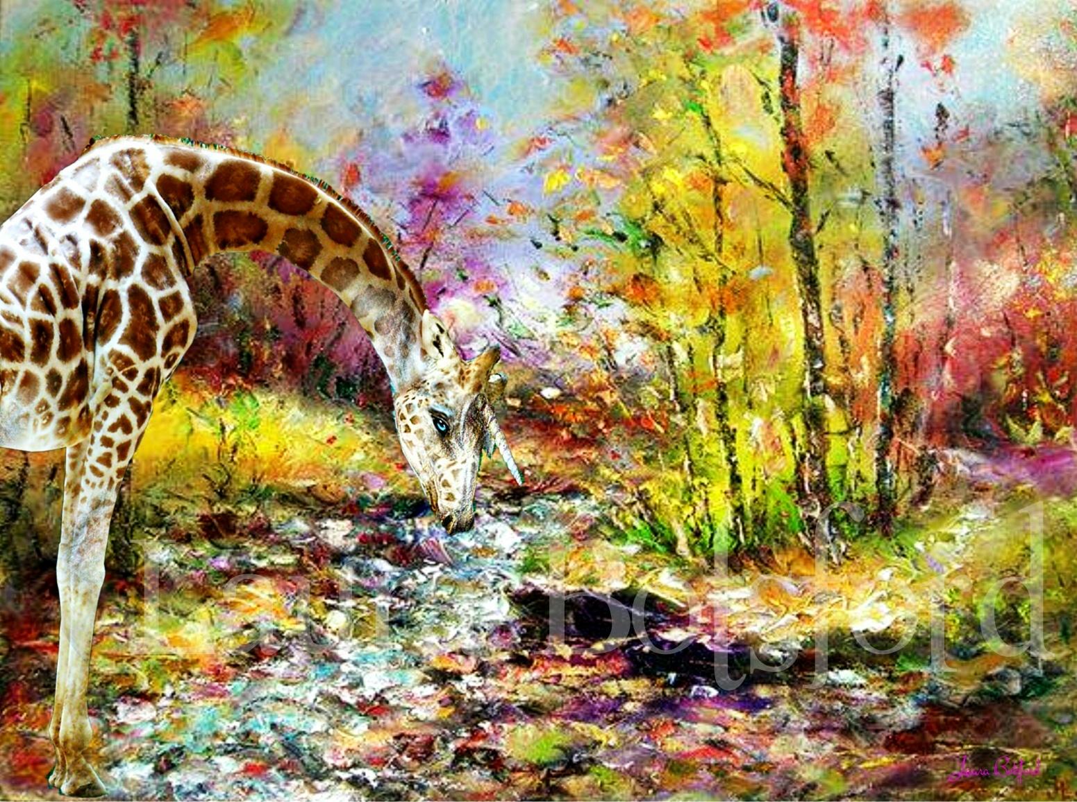 Unicorn Giraffe at the River