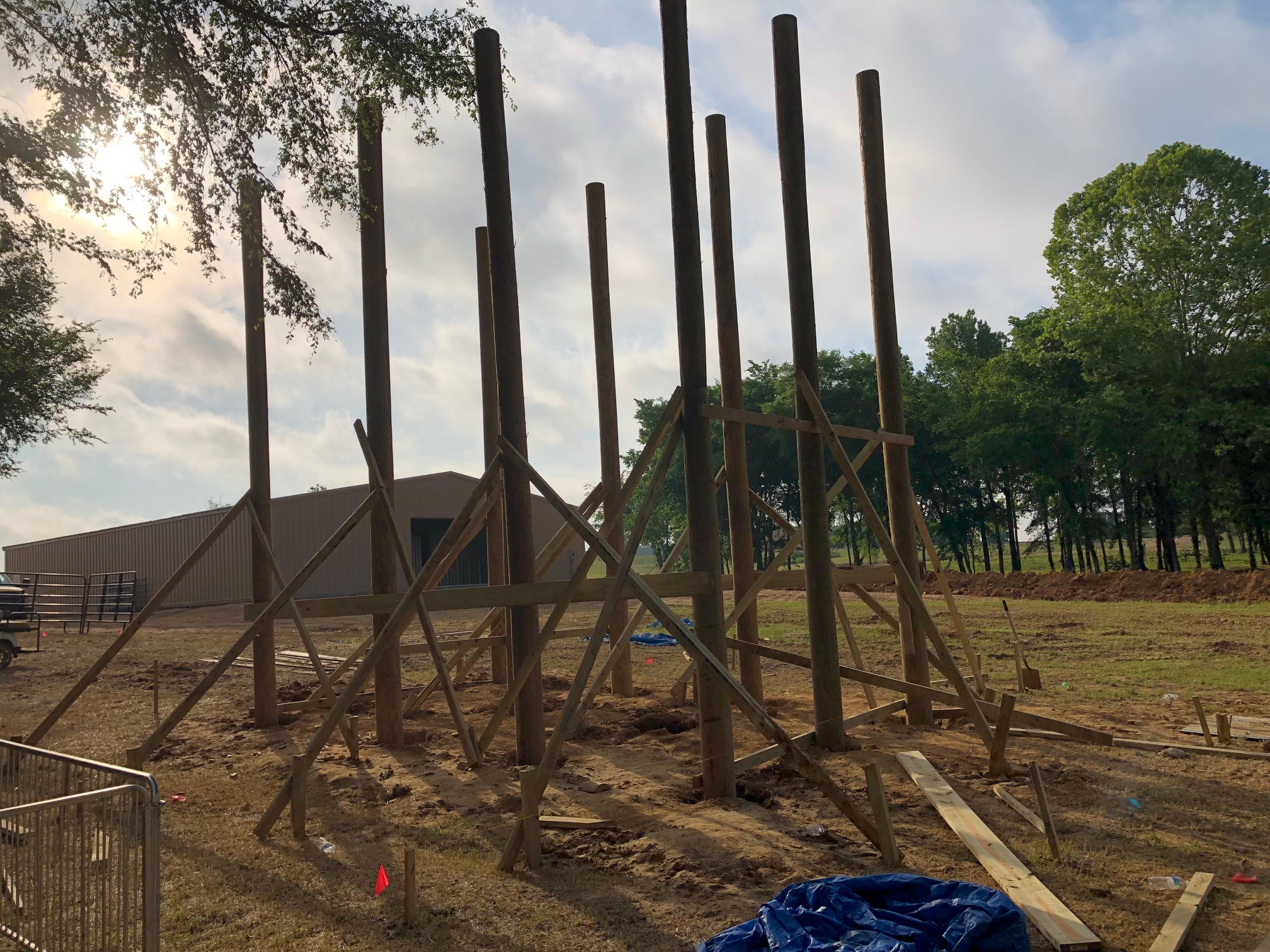 Constructing Round Timber Pole Barns