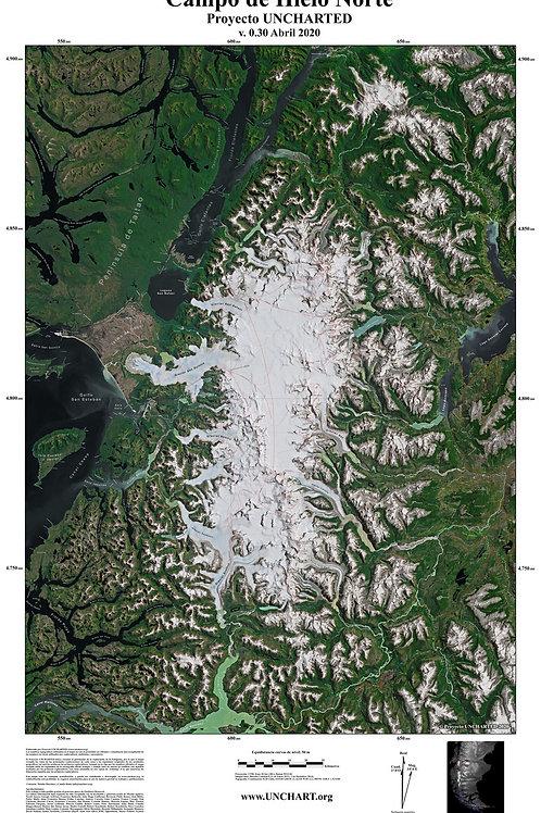 Donación USD$100-  Mapa digital UNCHARTED: Campo de Hielo Norte v. 0.30