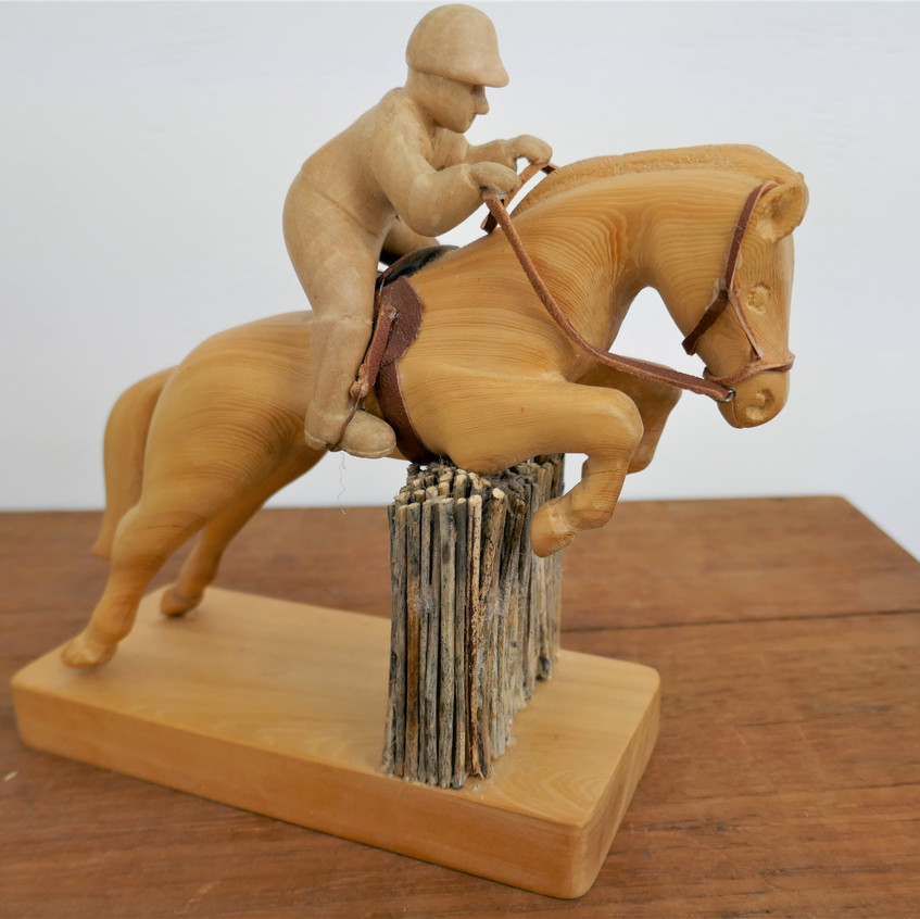Show jumper carved in huon pine by Bob T