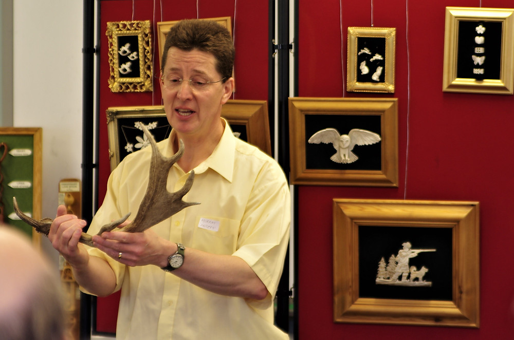 Murray giving a talk to the British Woodcarving Association