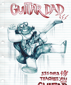 GUITAR DAD 2  - These cute (officially licenced) Steven Universe designs are available on stickers phone cases, clothing and more at my shop on redbubble www.redbubble.com/people/LaviniaKnight/portfolio they make the pefect gift for teenagers, tomboys, and nonbinary peeps and are iconic in queer culture. They look great printed on comfortable (and affordable) tops to wear with jeans. Plus 5% of my profit as an artist goes towards saving the rainforest.
