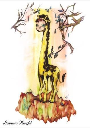doll-faced giraffe