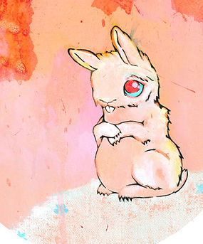 innocent bunny image ... you'll see this bunny hanging out on my portfolio on Patreon. When you become one of my patrons you are making art possible, and because a portion of my proceeds goes towards saving the planet yo are literally makig  possitive change in th world around us. Come and check out my Patreon account at https://www.patreon.com/Art_official_sweetener