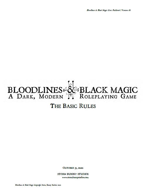 Bloodlines & Black Magic Basic Rules