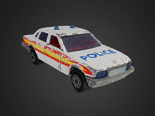 Police toy car - 3D Model