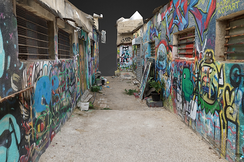Urban Street art scene