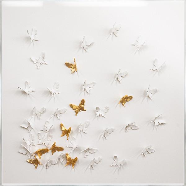 Golden Butterfly III 30 x 30 925