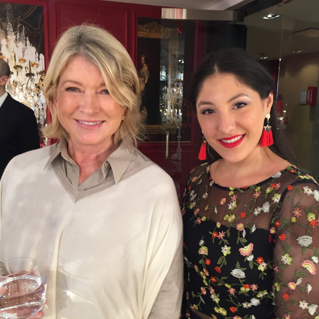 With THE Martha Stewart. No words can describe.