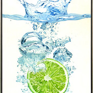 Splashing lime - large 54 x 74